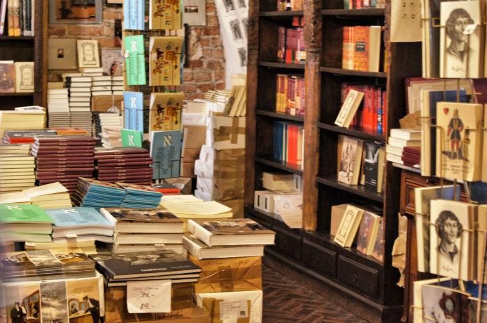 Buchladen von innen in Krakow