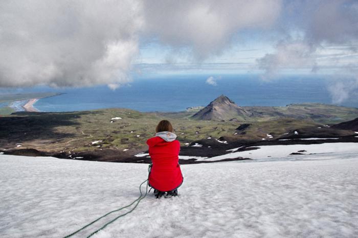 Island Highlights Christine-Neder-Aussicht-Gletscher Snæfellsjökull