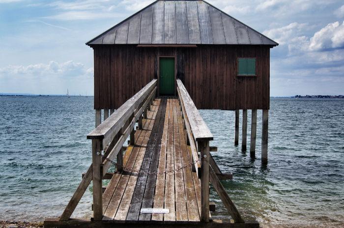 Hütte am Bodensee