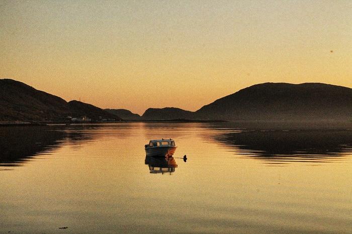 Sonnenuntergang-See-Norwegen