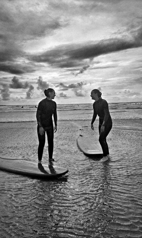 Surfen;Lachen