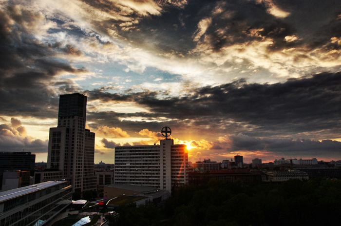 Sonnenuntergang-Berlin