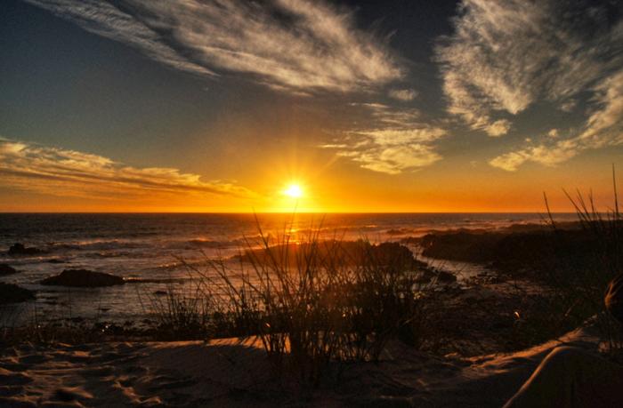 Afrika-Sonnenuntergang