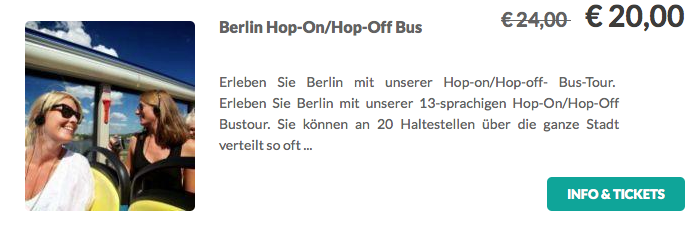 Berlin Hop On Hop Off Tour