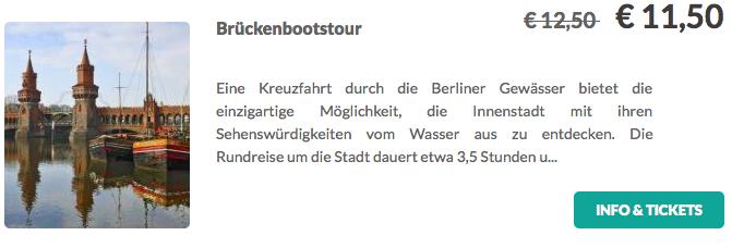 Brückenbootstour durch Berlin