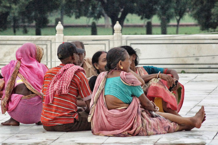 urlaub_in_indien_Familie im Taj Mahal