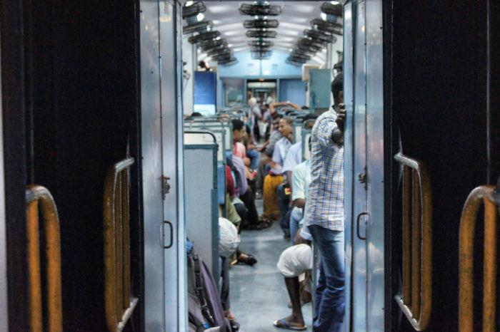 Zugfahren in Indien
