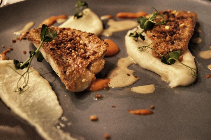 Fisch im Restaurant Bernstein