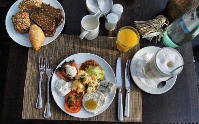 Frühstück von oben die Zweite
