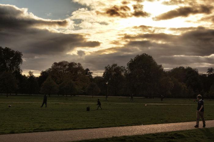 Sonnenuntergang Hyde Park