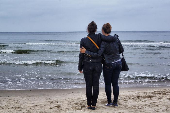 Umarmung am Strand von Zinnowitz