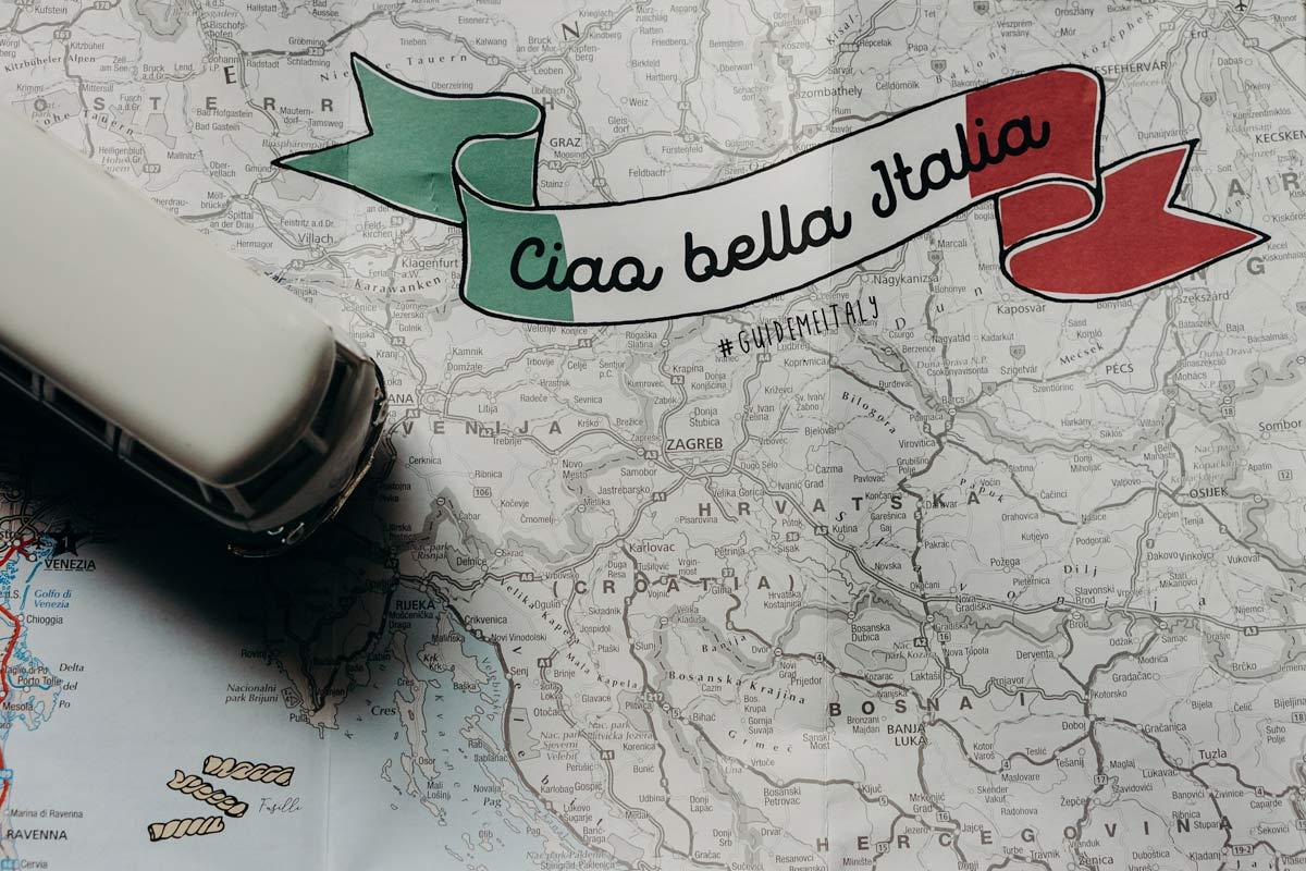 Ciao Bella Italien Reisekarte