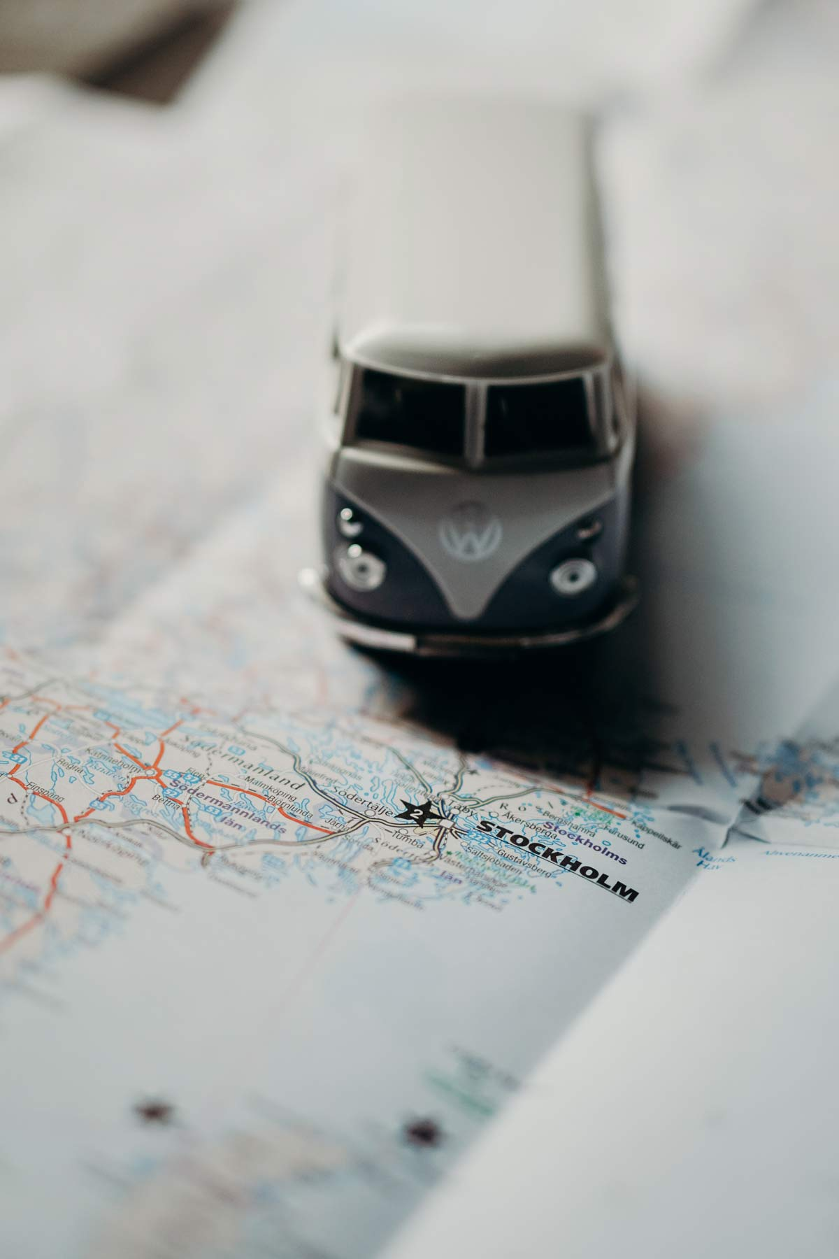 Stockholm Reisekarte