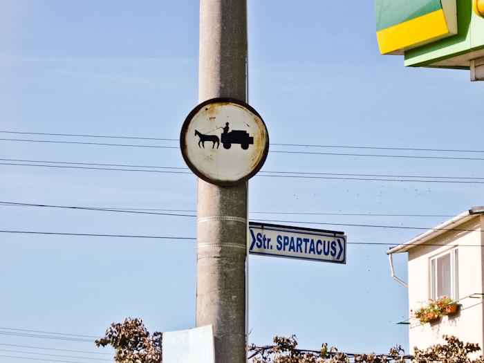 Straßenschild-Rumänien