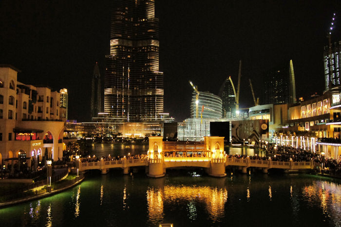 Dubai Ausblick vom Restaurant