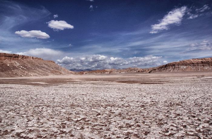 Salzkrusten-Wüste