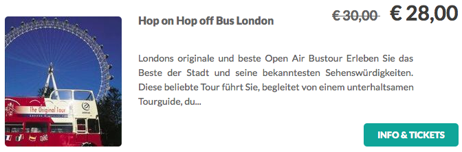 Hop On Hop Off Bus London