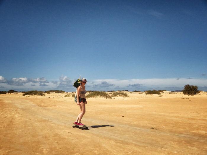 Longboarden Flag Beach Fuerteventura