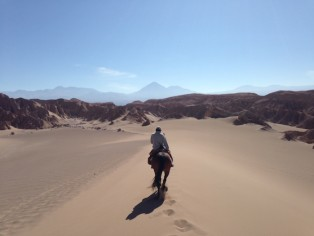 Reiten-Atacama-Wüste