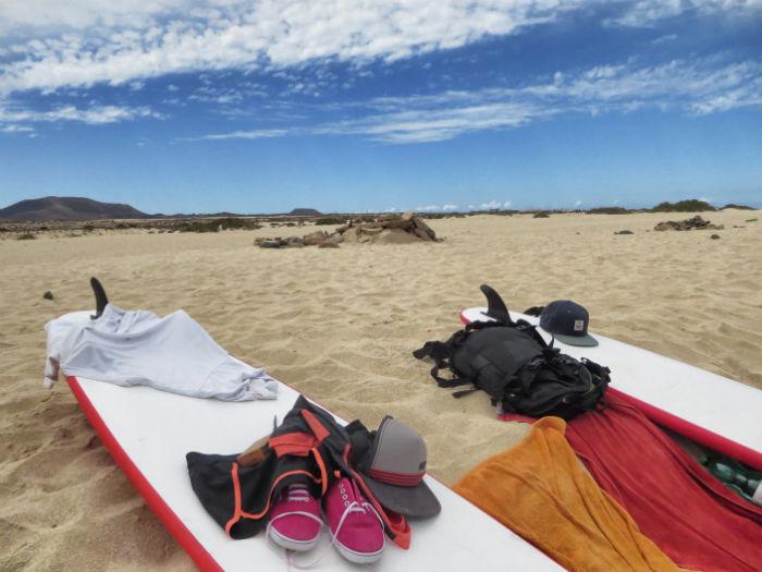 Surfen Flag Beach Fuerteventura 5
