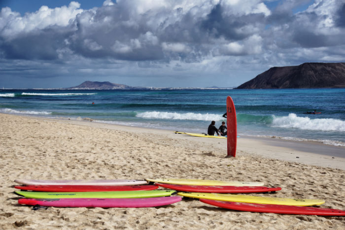Surfen Flag Beach Fuerteventura