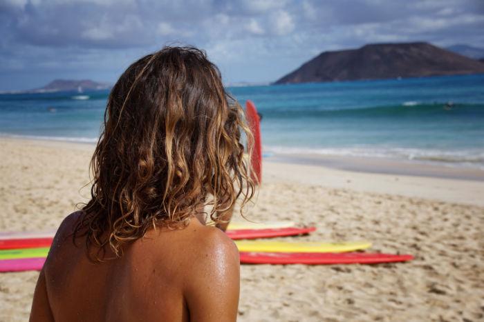 Surfer Flag Beach Fuerteventura