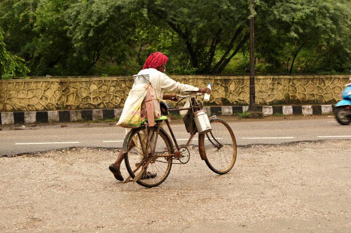 Alter Mann in Jaipur