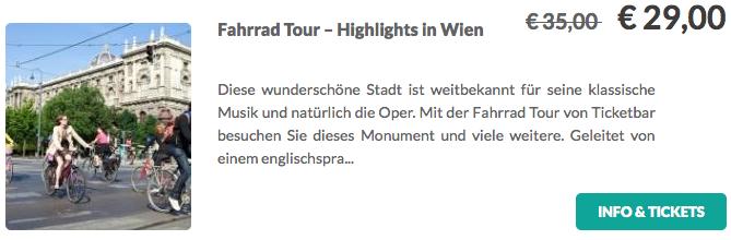 Fahrradtour Highlights in Wien