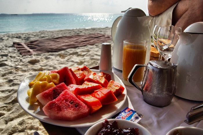 Maafushivaru-Frühstück-Insel