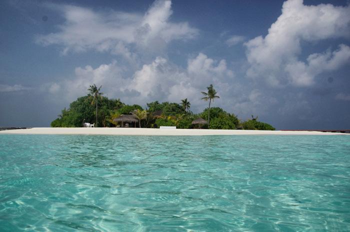 Malediven-einsame Insel