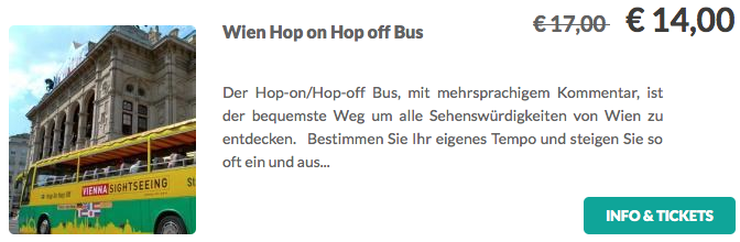 Wien Hop On Hop Off Bus