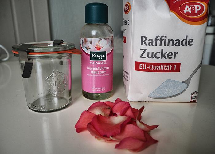 Rosen Body Peeling Zutaten