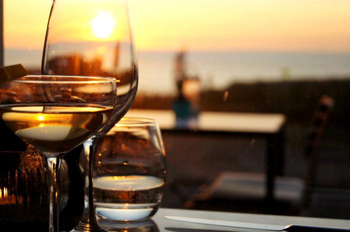 Sonnenuntergang Drinks Vesper Hotel