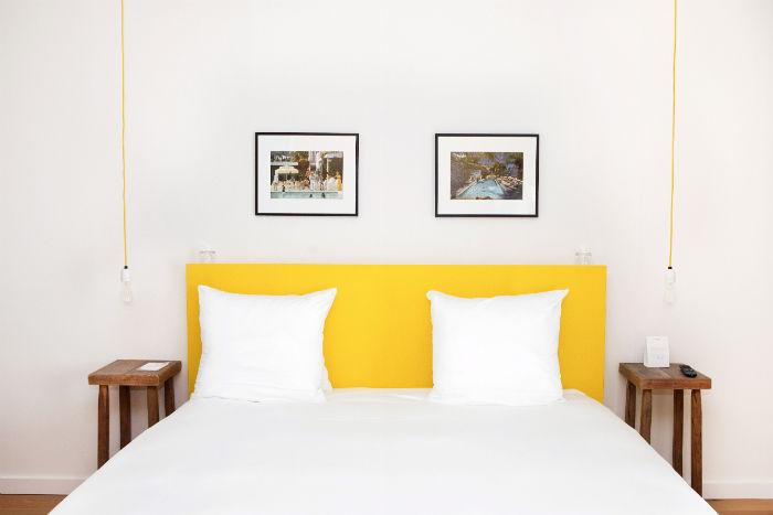 Vesper Hotel gelbes Zimmer