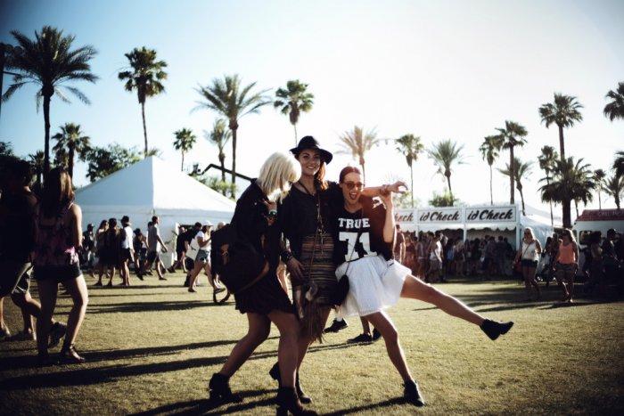 Das Team von Blogger Bazaar auf dem Coachella Festival