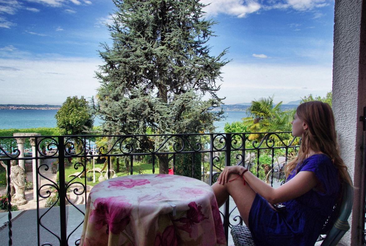 Aussicht Balkon Hotel Catullo