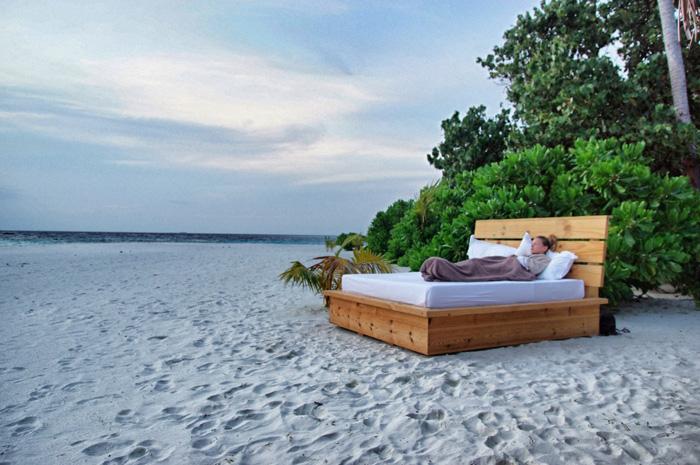 Maafushivaru - Our bed