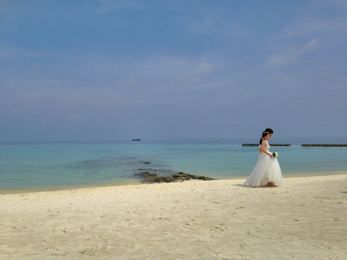 Bride on the Maledives