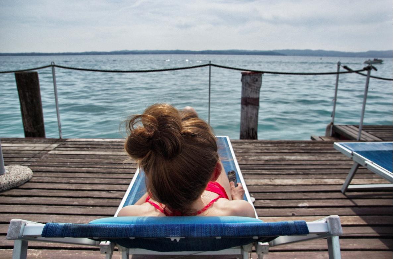Christine Neder am Gardasee