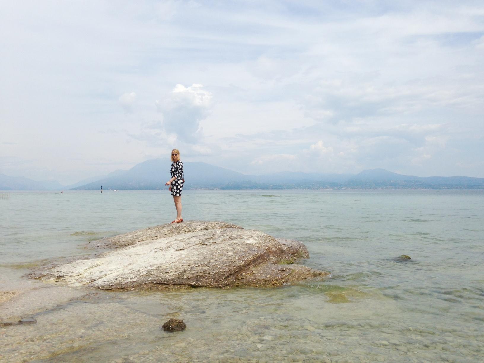 Am Strand vom Gardasee