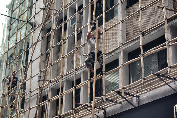 Hong Kong Bambusgerüst