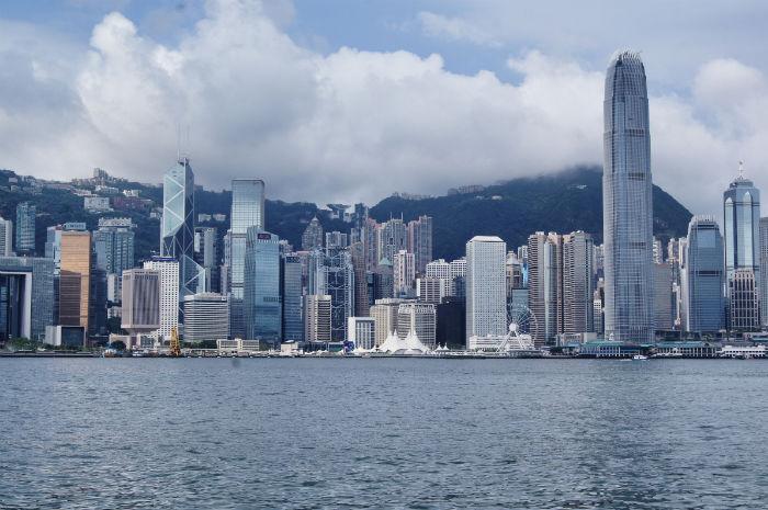 Hong Kong Blick von Fähre
