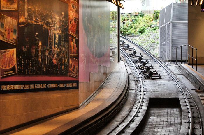 Hong Kong Einfahrt Peak Tram