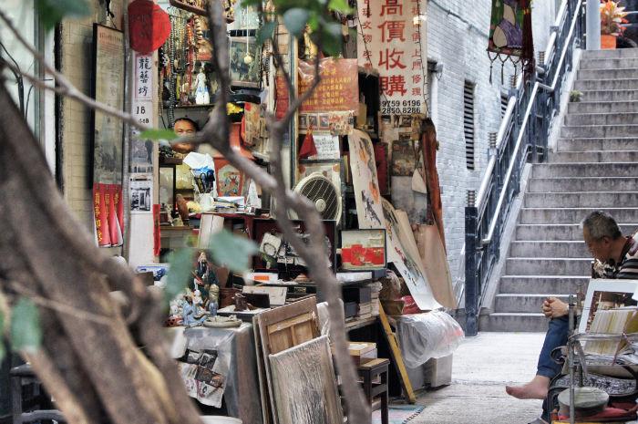 Hong Kong Straßenverkäufer