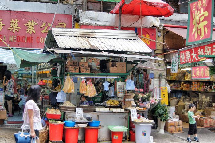 Hong Kong Verkaufsstand
