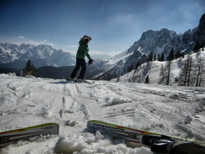 skiing in the dolomites - the view