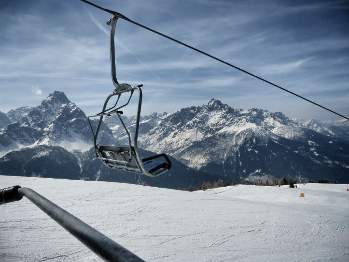 skiing in the dolomites - my view
