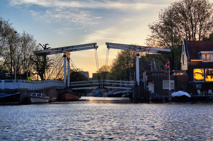 Sonnenuntergang Brücke Amsterdam