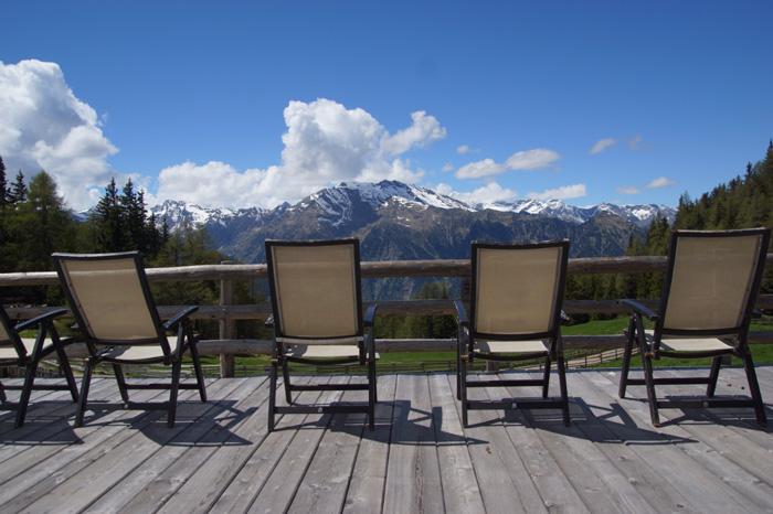 Südtirol-Aussicht-Gompm-Alm