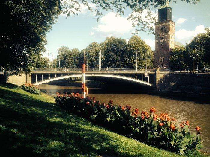 Urlaub in Turku - Der Fluss Aura fließt durch Turku